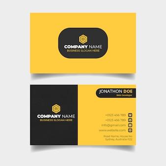 Gelbe visitenkarte