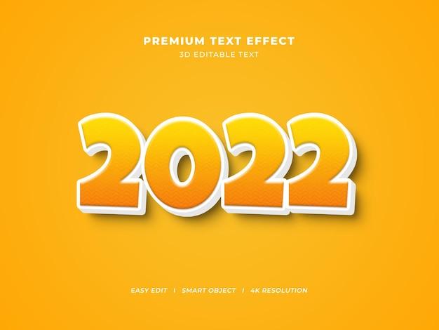 Gelber kreativer bearbeitbarer texteffekt für das neue jahr
