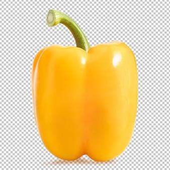 Gelber paprika isoliert