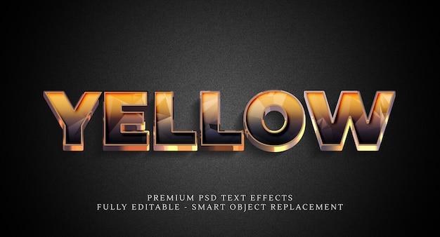 Gelber stileffekt, premium-texteffekte
