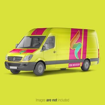 Gelbes lieferwagen-modell