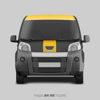 Gelbes und schwarzes lieferwagenmodell