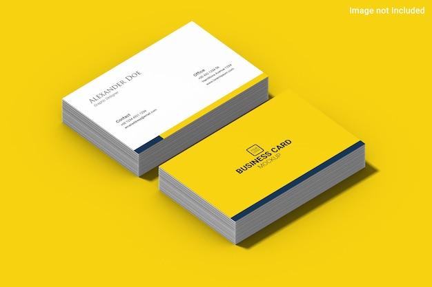 Gelbes visitenkartenmodell