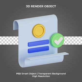 Geldbericht abbildung 3d-rendering isoliert premium-psd