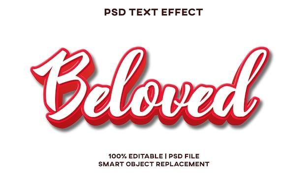 Geliebte texteffekt-stilvorlage