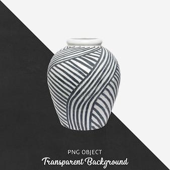 Gemusterte vase oder blumentopf auf transparent