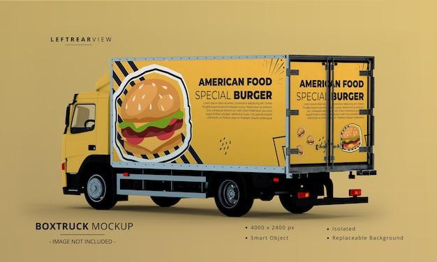 Generisches big box truck car mockup linke rückansicht