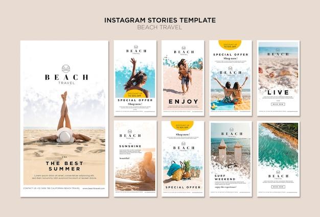 Genieße die besten instagram-geschichten der sommerzeit