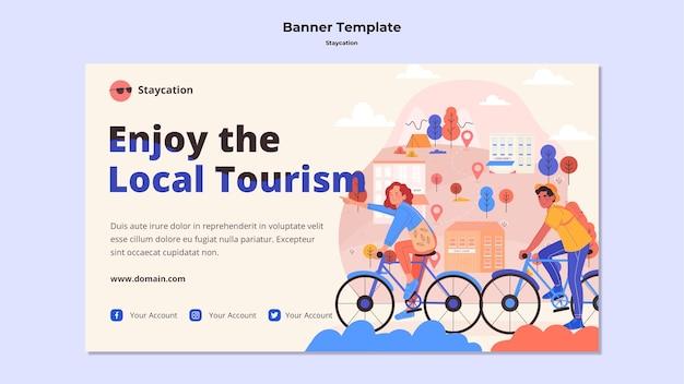 Genießen sie das lokale tourismus-banner-design