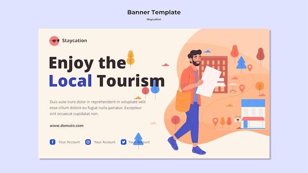 Genießen sie den lokalen tourismus-banner-stil