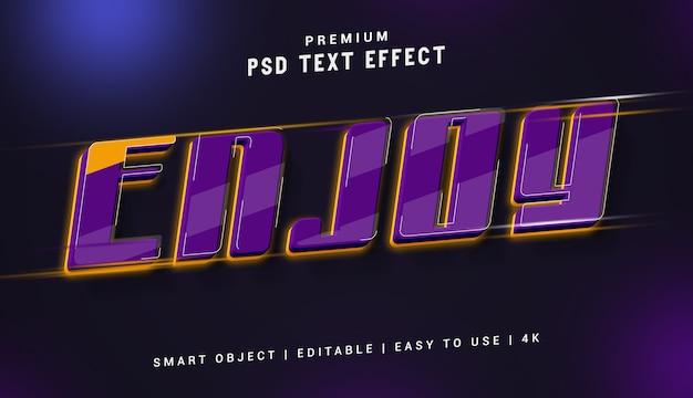 Genießen sie den premium text effect generator