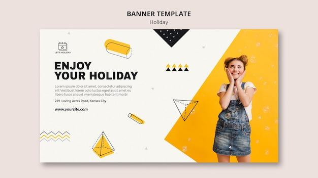 Genießen sie ihre feiertagsfeier-banner-vorlage