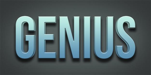 Genius editable text style effect