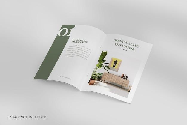 Geöffnete broschüre oder mockup