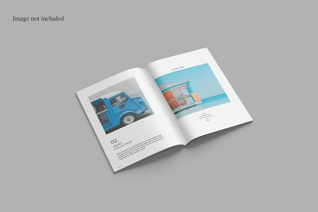 Geöffnetes broschürenmodell
