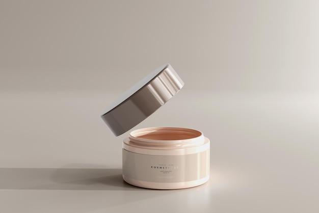Geöffnetes kosmetikglas-modell