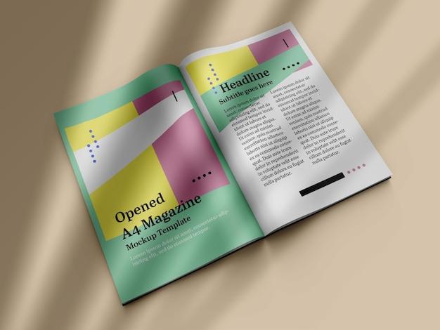 Geöffnetes magazin-mockup