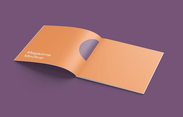 Geöffnetes magazin- oder broschürenmodell