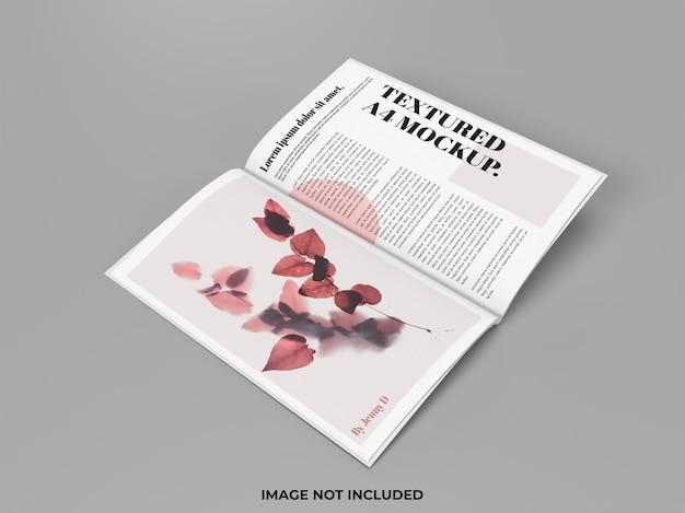 Geöffnetes magazinmodell für werbung