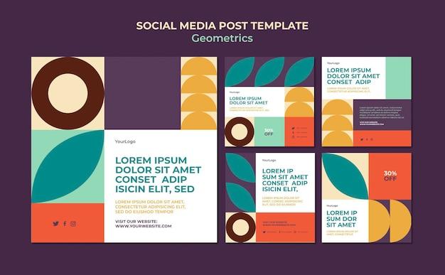 Geometrics social media post