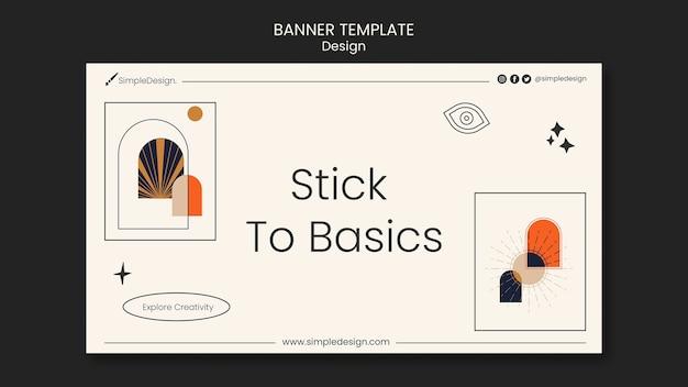 Geometrische banner-design-vorlage