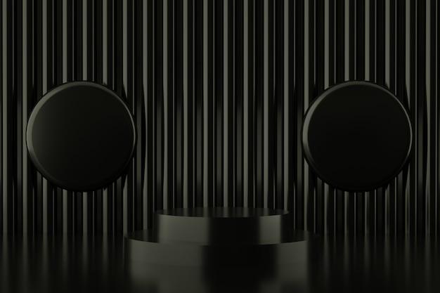 Geometrische form der abstrakten schwarzen farbe