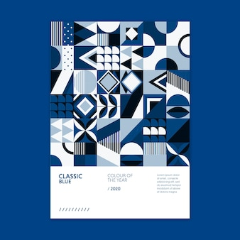 Geometrische plakatfarbe des jahres 2020