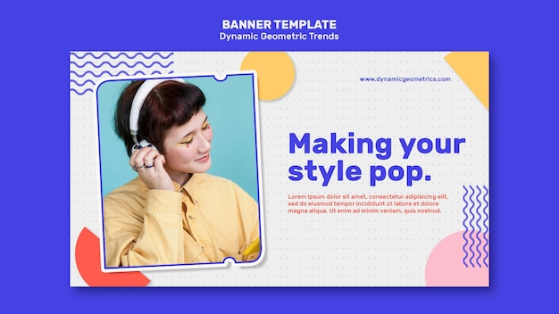 Geometrische trends im grafikdesign-banner