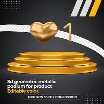 Geometrisches podium für produkt isoliert