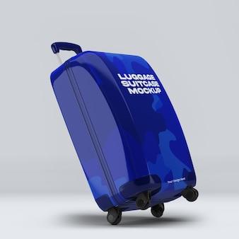 Gepäckkoffer mockup design isoliert