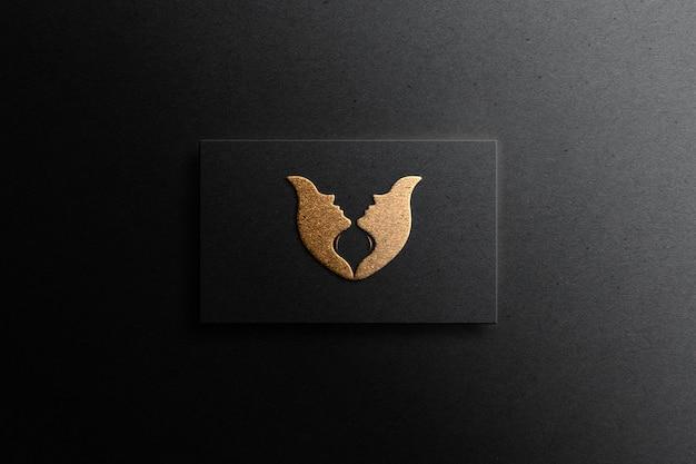 Geprägtes goldenes logo-modell