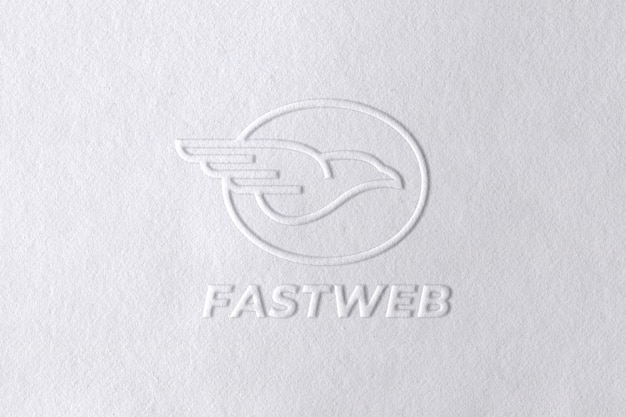 Geprägtes logo-modell