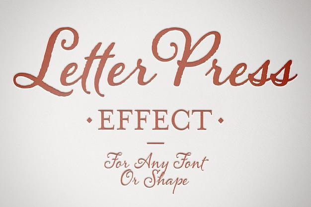 Geprägtes papiertext-effektmodell