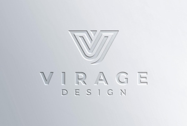Gepresstes logo-mockup