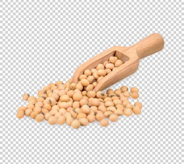 Geröstete sojabohnen isoliert premium psd