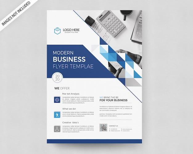 Geschäft flyer vorlage