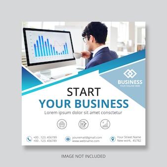 Geschäft quadratische flyer vorlage