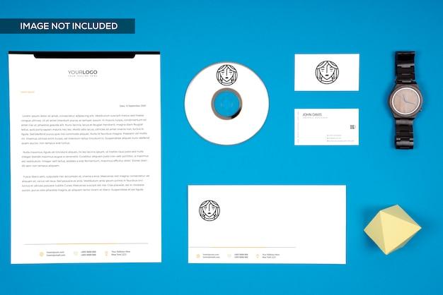 Geschäfts-branding-modell, draufsicht