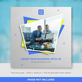 Geschäfts-social media-fahnen-schablone
