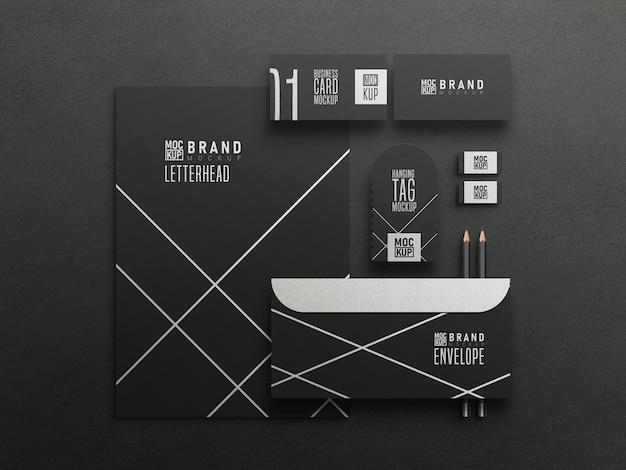 Geschäfts stationäres set-modell