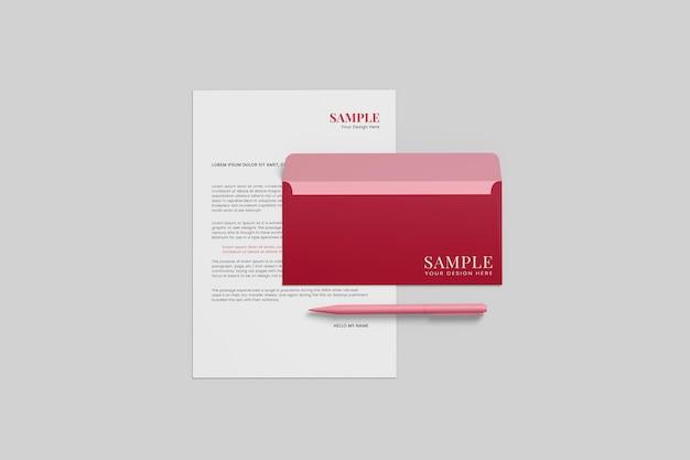 Geschäftsbriefpapier-modellentwurf