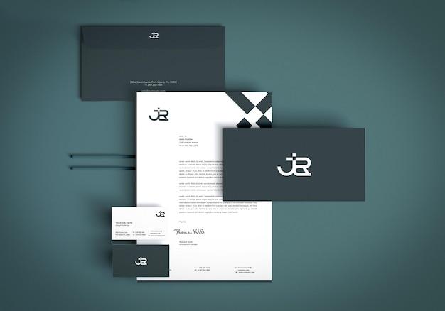 Geschäftsbriefpapier-set-modell