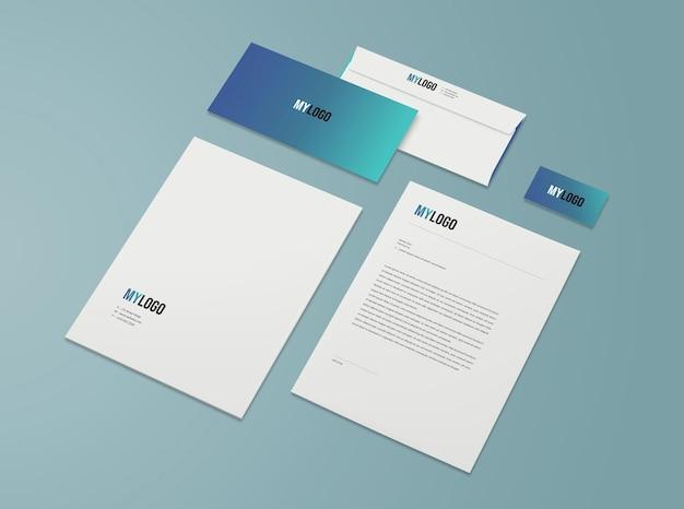 Geschäftsbriefpapiermodell isoliert