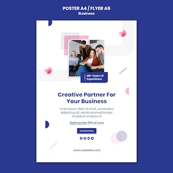 Geschäftsdruckvorlage mit foto