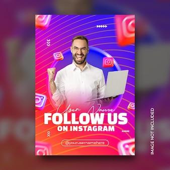 Geschäftsförderung und digitales unternehmensmarketing live-webinar instagram-story-vorlage kostenlose psd