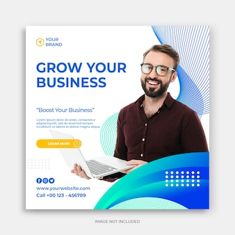 Geschäftsförderung und kreative social-media-banner-vorlage