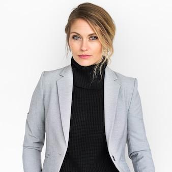 Geschäftsfrau-kühles schauendes konzept