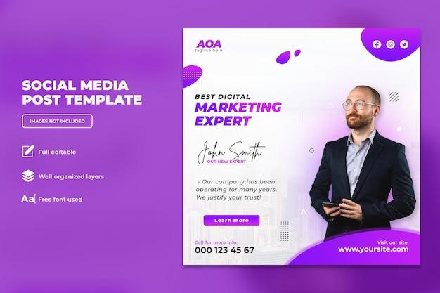 Geschäftskonferenz zum digitalen marketing-instagram-post oder quadratischem flyer-vorlagendesign