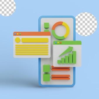 Geschäftsleistungsanalyse mit grafiken