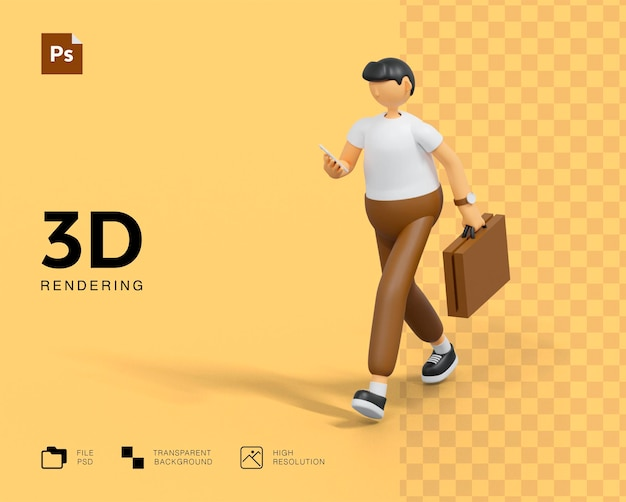 Geschäftsmann charakter design Premium PSD